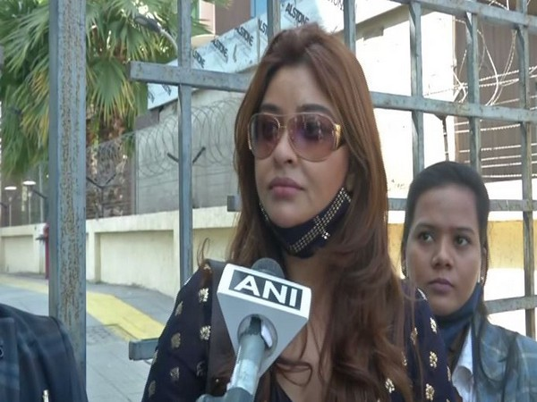 Payal Ghosh talking to ANI in New Delhi on Tuesday. photo/ANI