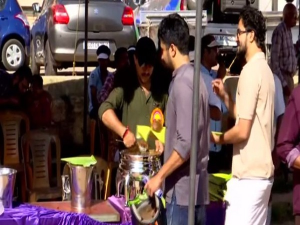 Visitors at Central Stadium were given 'Payasam' to dispel myth of not consuming food during solar eclipse. Photo/ANI