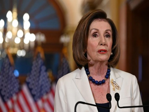 House Speaker Nancy Pelosi delivers a statement at Speaker's Balcony Hallway in Washington DC on Thursday.