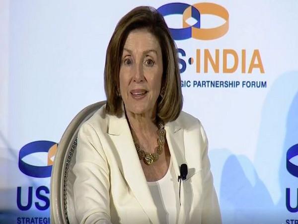 US House Speaker Nancy Pelosi at the 2nd US-India Strategic Partnership Forum (USISPF) in Washington DC on Thursday.