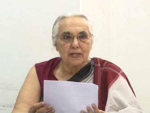 One of the the five petitioners - historian Romila Thapar - addressing a presser