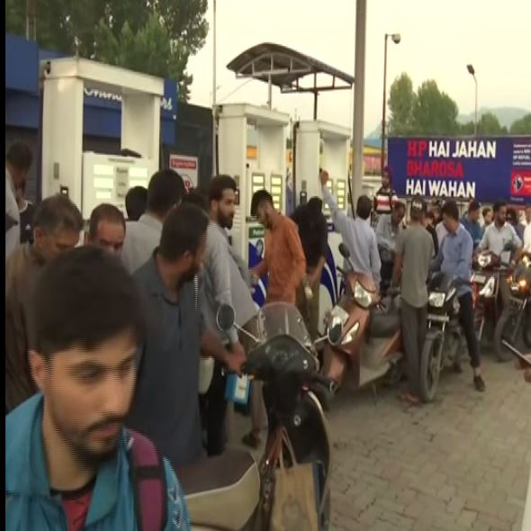 People thronged to petrol pumps to get petrol and other things.