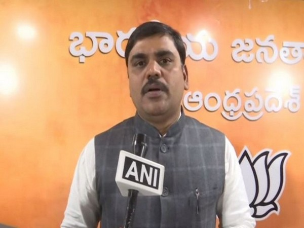 Andhra Pradesh BJP General Secretary, Vishnu Vardhan Reddy (Photo/ANI)