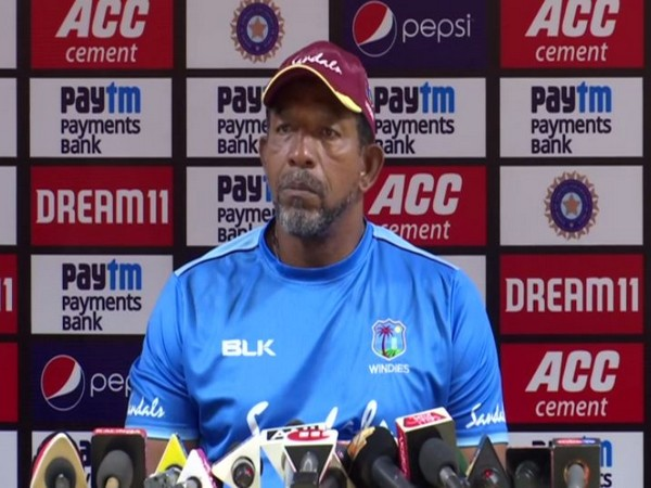 West Indies coach Phil Simmons talking to reporters in Cuttack on Saturday. Photo/ANI