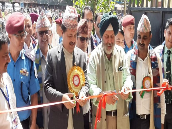 Indian Ambassador Manjeev Singh Puri and Attorney General of Nepal- Agni Prasad Kharel jointly inaugurated the School Building