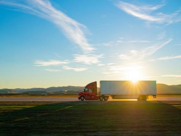 SK Corp. and US autonomous driving company Kodiak Robotics signed a partnership agreement. Autonomous truck run by Kodiak Robotics. (Kodiak Robotics)