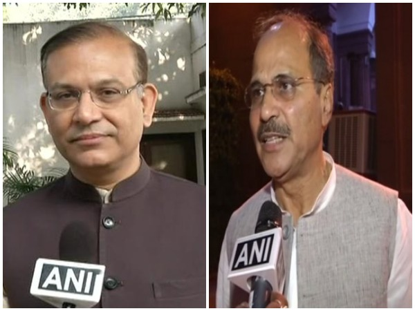 Former Union Minister Jayant Sinha (left) and Congress leader Adhir Ranjan Chowdhury (right)