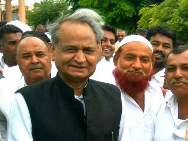 Haji Umardeen Sindhi as Pradhan , Phalodi with CM Ashok Gehlot