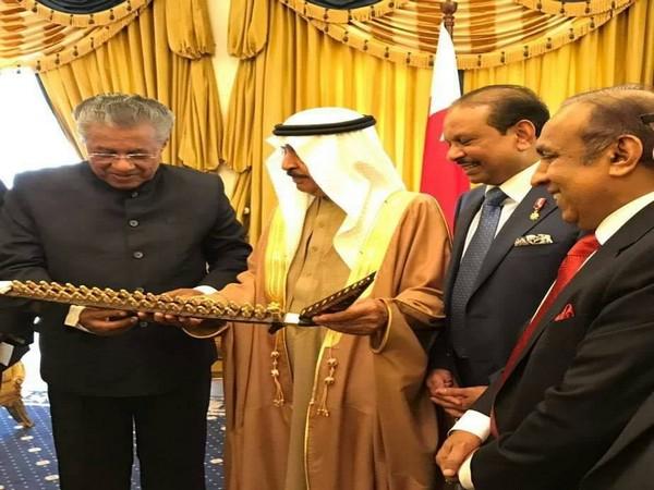 Kerala Chief Minister Pinarayi Vijayan with Bahrain's Prime Minister Khalifa bin Salman Al Khalifa in 2017. (Photo credit: Kerala CMO)