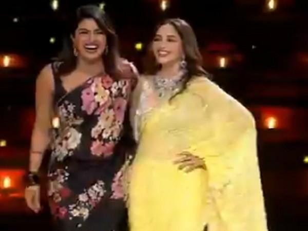 Actors Priyanka Chopra and Madhuri Dixit (Image Source: Twitter)
