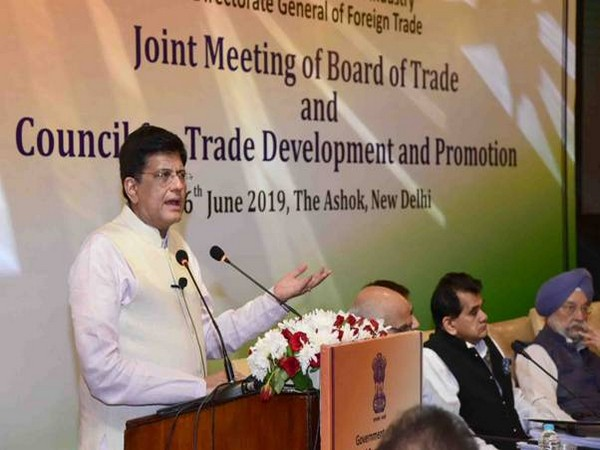 Goyal addressing joint meeting of the Board of Trade and the Council of Trade Development in New Delhi on Thursday
