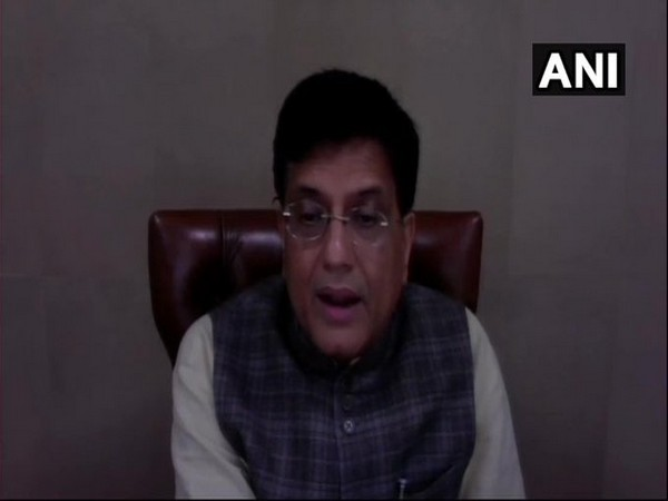 Union Minister Piyush Goyal during Sustainability Summit on Circular Economy for Self-Reliant India on Tuesday. Photo/ANI