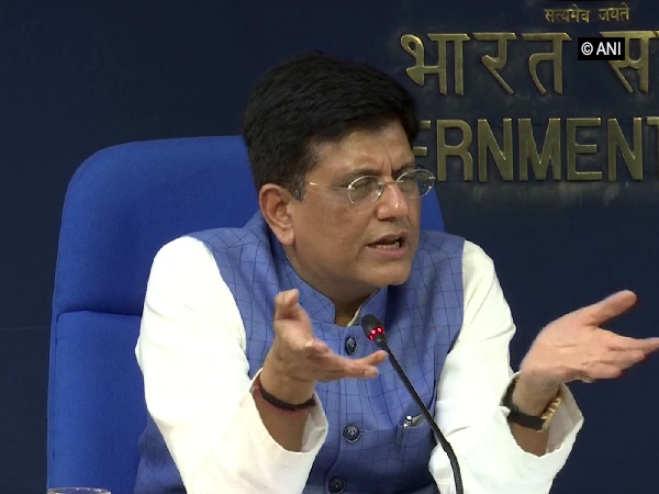 Union Commerce and Industry Minister Piyush Goyal briefing the media after Cabinet meeting in New Delhi on Wednesday. Photo/ANI