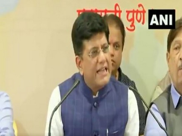 Union Minister Piyush Goyal addressing a press conference in Pune on Friday.
