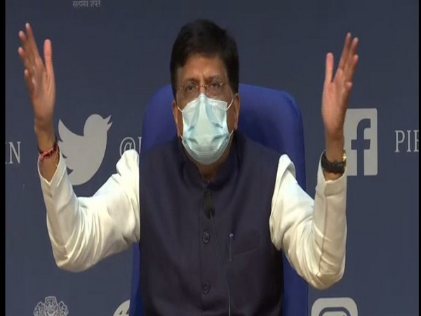 Union Minister Piyush Goyal during press conference in New Delhi on Monday. Photo/ANI