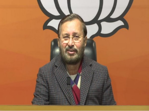 Prakash Javadekar addressing a press conference in New Delhi on Wednesday.