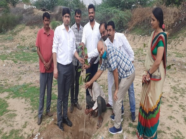 Plantation Drive was conducted in a small Village Uchiyarda of District Jodhpur