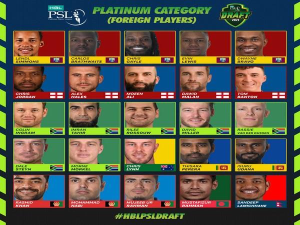 PSL 2021 Platinum roster