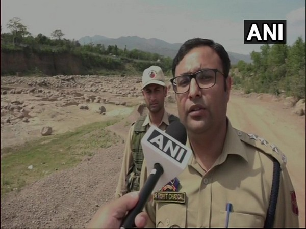 Udhampur Deputy superintendent of police Rohit Chadgal while speaking to ANI on Thursday. Photo/ANI