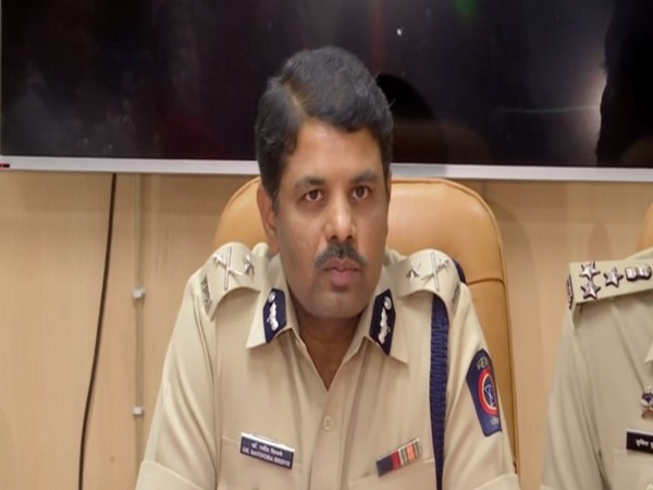 Pune Joint Commissioner of Police Ravindra Shisve addressing a press conference on Wednesday. Photo/ANI