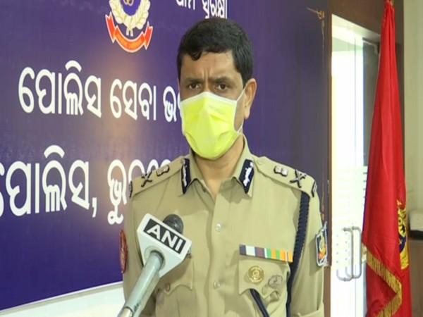 Odisha Commissioner of Police Dr Sudhanshu Sarangi speaking to ANI on Friday. Photo/ANI