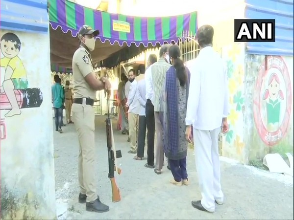 Polling for biennial elections to two Teachers' constituencies in Andhra Pradesh Legislative Council is underway.