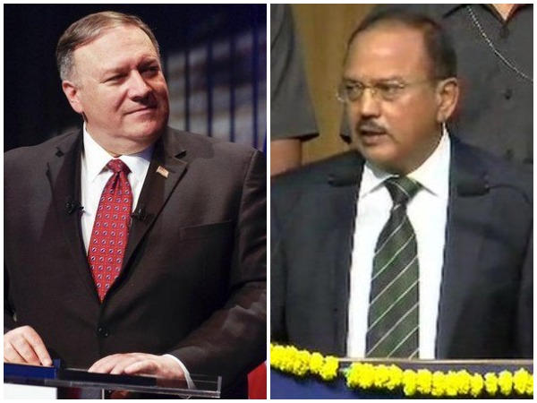 US Secretary of State Michael Pompeo and National Security Advisor (NSA) Ajit Doval