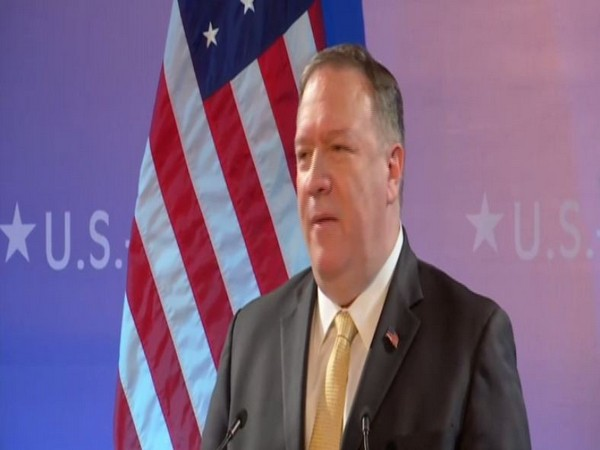 US Secretary of State Mike Pompeo addressing a joint press conference in New Delhi on Wednesday