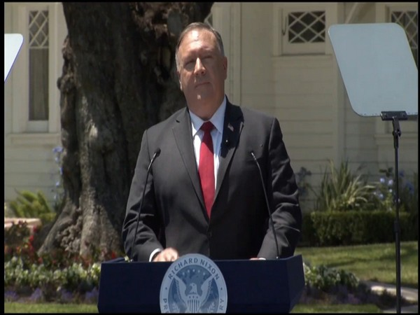 US Secretary of State Michael Pompeo speaking on 'Communist China and the Free World's Future' at Richard Nixon Presidential Library in California on Thursday.