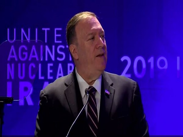 US Secretary of State Michael Pompeo at the Iran summit in New York on Wednesday.