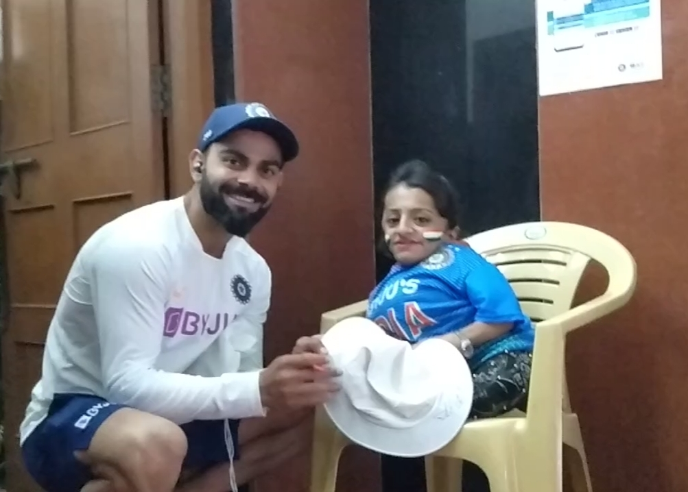 Virat Kohli with Pooja Sharma