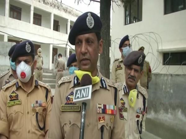 Jammu zone Inspector General of Police Mukesh Singh speaking to ANI on Monday. Photo/ANI