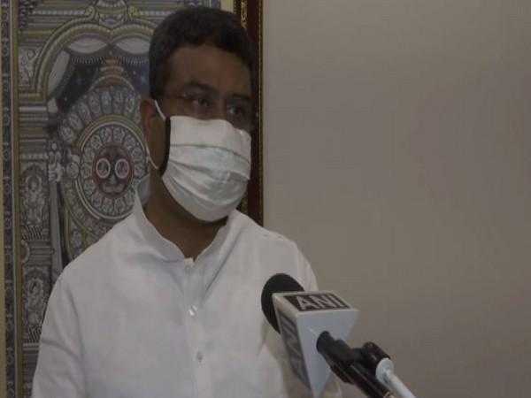 Union Minister Dharmendra Pradhan speaking to ANI on Thursday. Photo/ANI