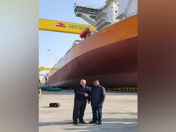Union Minister Dharmendra Pradhan at Zvezda Shipbuilding Complex in Vladivostok on Tuesday.