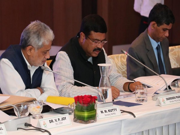 Union Minister Dharmendra Pradhan speaking at the 3rd International Think Tank Meeting (ITT) in New Delhi on Sunday. Photo/ANI