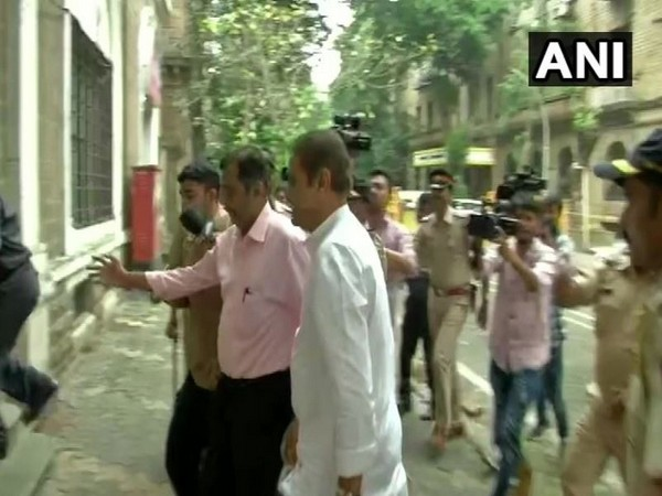 NCP leader Praful patel arriving at ED office in Mumbai on Friday. Photo/ANI