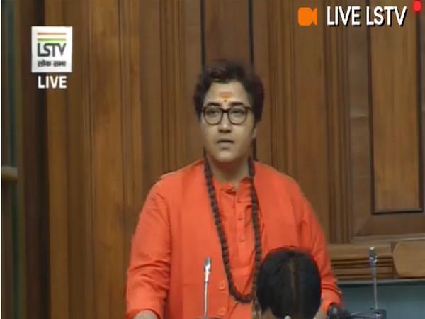 BJP MP Pragya Singh Thakur (Photo/LSTV)