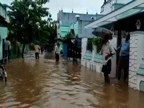 Water enter the houses in Giddaluru town following rainfall in Andhra Pradesh.