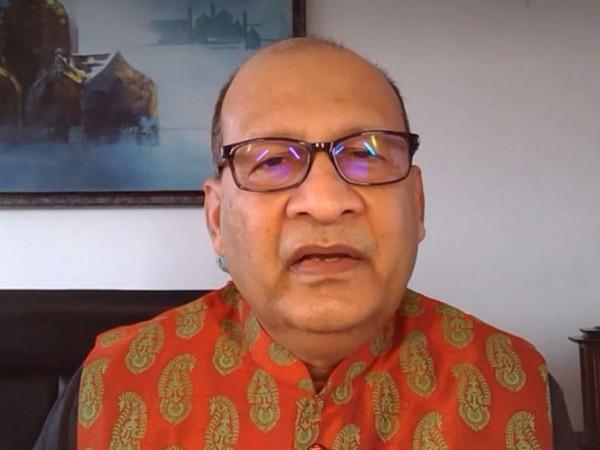 Former High Commissioner to Canada Vishnu Prakash speaking to ANI on Thursday. Photo/ANI