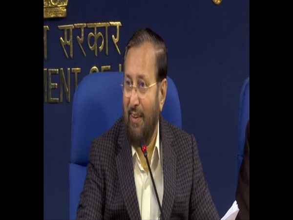 Union Minister Prakash Javadekar adddressing media persons after the Cabinet meeting in New Delhi on Wednesday. Photo/ANI