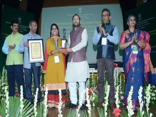 Union Minister Prakash Javadekar at National Awards for Community Radio on Wednesday in New Delhi. Photo/PIB