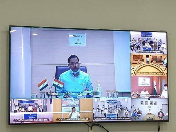 Union Minister Pralhad Joshi at the video conference meeting on Monday
