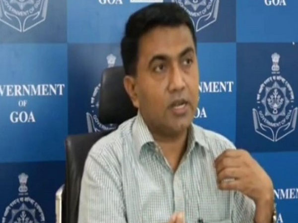 Goa Chief Minister Pramod Sawant in a web conference. Photo/ANI