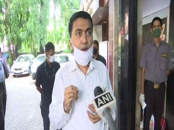 Goa Chief Minister Pramod Sawant on Monday speaking to ANI. (Photo/ANI)