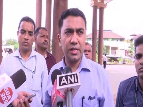 Goa Chief Minister Pramod Sawant speaking to media reporters on Friday. Photo/ANI