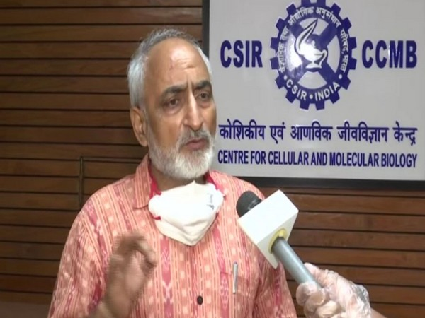 Rakesh Mishra, Director, CSIR-Centre for Cellular and Molecular Biology, speaking to ANI on Thursday. Photo/ANI