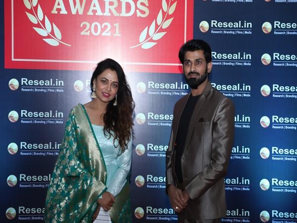 Indian Actress Prarthana Behere and Sudhir Kumar Managing Director Reseal MRFC