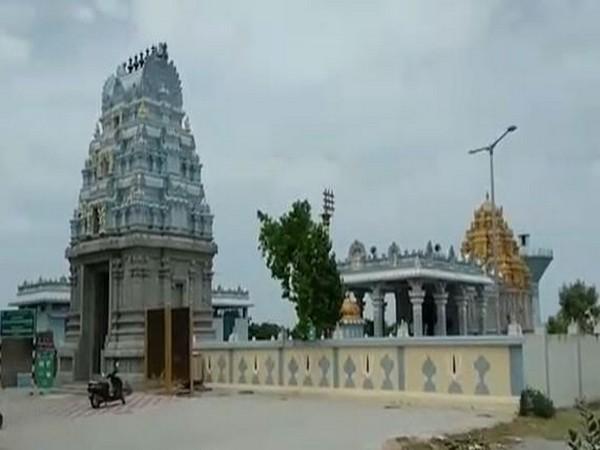 Visuals of Prasanna Venkateswara temple at Thondamanadu in Srikalahasti Mandal.