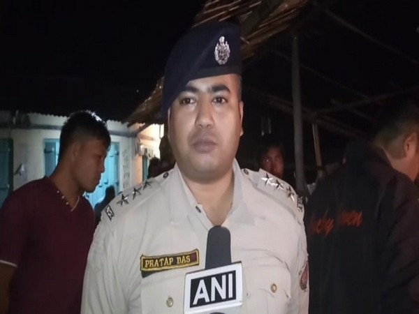DSP Pratap Das talking to ANI in Chirang on Sunday. Photo/ANI