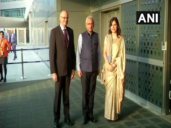 Mauritius Prime Minister Pravind Kumar Jugnauth arrives in Delhi